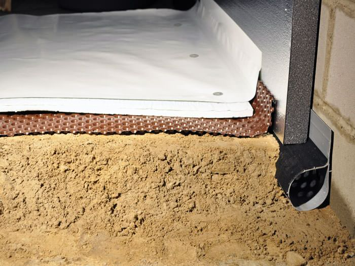 Wet crawl space repair experts in sacramento fresno Crawl space flooring